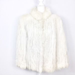 Safuron Fox Fur White Silver Coat
